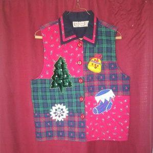 New Direction Christmas vest 100% cotton size medi